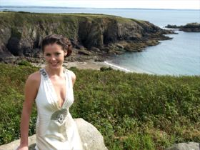 Wedding Bride on coast