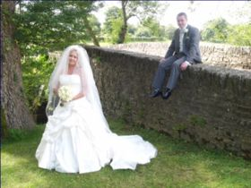 Bride and Groom at Bridge