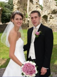 Wedding Couple in castle setting