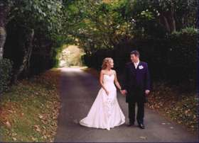 Bride and Groom at Warpool Court Hotel, St. Davids